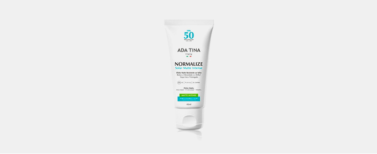 As melhores dicas de cuidados com a pele no verão estão aqui! - Protetor Solar Ada Tina Normalize Solar Matte Intense FPS 50 | Blog Sieno