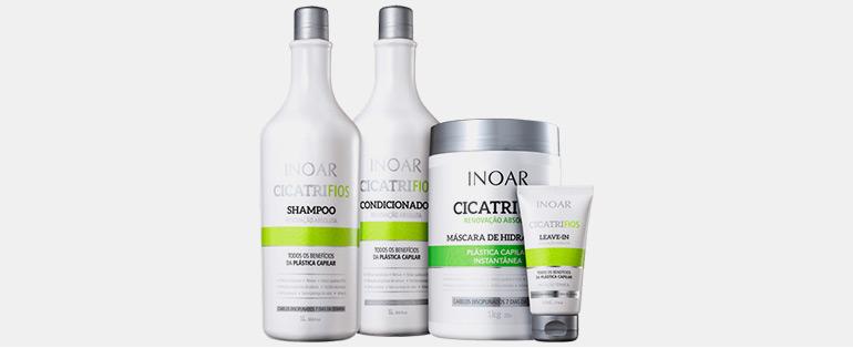 Produtos Profissionais Para Cabelo   Kit Inoar Cicatrifios Renovação Absoluta Shampoo + Condicionador + Máscara + Leave-in   Blog Sieno