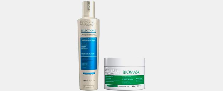 Produtos Profissionais Para Cabelo   Kit Prohall Progressiva Select One 300ml + Máscara Biomask 300g   Blog Sieno