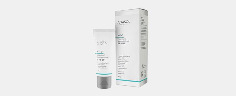 Rotina de cuidados com a pele | Anasol Clinicals Protetor Solar Facial Fps50 Com Vitamina C | Blog Sieno